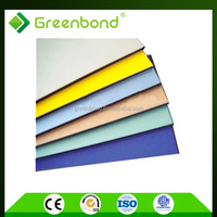 Greenbond building construction materials price list of brushed aluminum composite panel