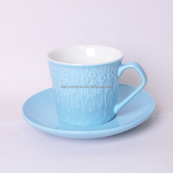 2015 new bone china glazed ceramic tea cup and saucer