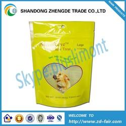 PET/PE Stand Up Plastic Packaging 12oz Pet Food Bag For Dog, Cat