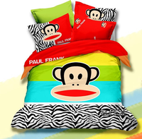 Wholesale cheap 3d cartoon kid child Bedding Set Monkey kids Bedclothes any Size for girls CD1037