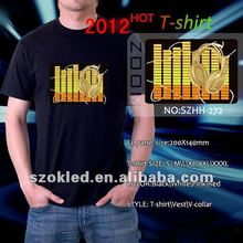 any size attractive led light el t-shirt for disco