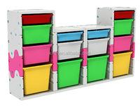 Practical 4 drawers plastic storage box with lock