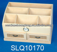 new designed unfinished cheap small furniture wood stationery cabinet with drawers