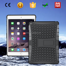 TPU+PC heavy duty case for ipad air/2 in 1 Shockproof hybrid kickstand case cover for ipad air 2