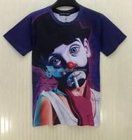 Designer Crazy Selling round neck men deer printed t-shirt