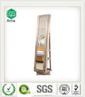 wood living room furniture MDF rotating mirrored cabinet modern