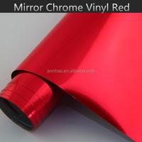 1.52*20m High Flexible Chrome Red Vinyl Car Wrap Folie