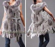CX-G-B-07 Genuine Rabbit Fur Lady's Vest