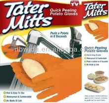 2014 as seen on tv Tater Mitts! Quick Peeling Potato Gloves