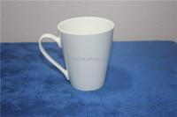 White blank ceramic V-shape mug/mugs bulk for logo