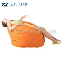 hot sales affordable beanbag ,orange coner bean bag , fashion countryside style lazy boy sofa,