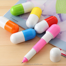 2015 new capsule pill shaped ball pen for promotion