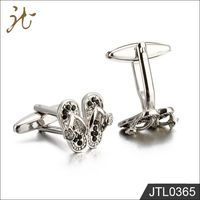 Best Selling Novelty Black Rhinestone Flip Flop Shoe Cufflinks