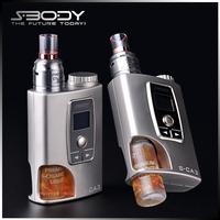 2015 new arrival max vapor electronic cigarette S-CA3 bottom feeder box mod ecig luxury vaporizer 18650 mod from S-body