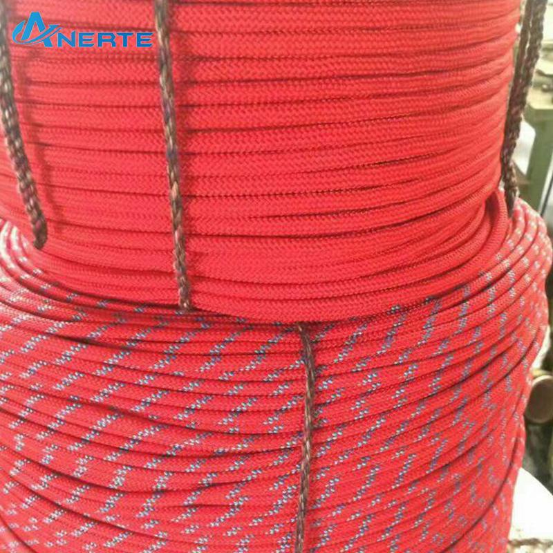 Trança de nylon escalada estática Anerte-escada de corda de segurança de emergência