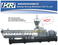 high quality co-rotating parallel twin screw plastic extruder for granulating