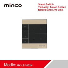 Smart Touch Switch Smart Live and neutral Switch Tempered Glass Switch