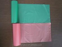Plastic bag on roll/Plastic rolling bag for garbage/Black rolling bag