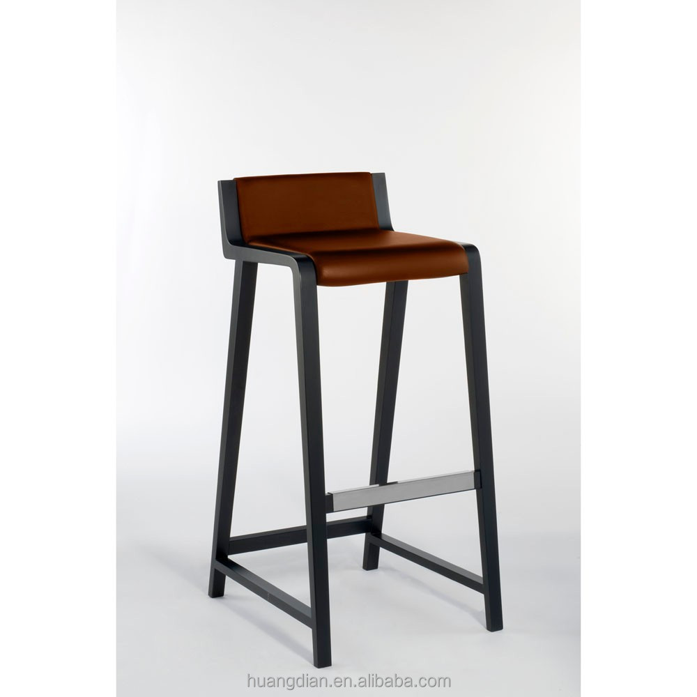 italy modern leather standing high chair for bar stool