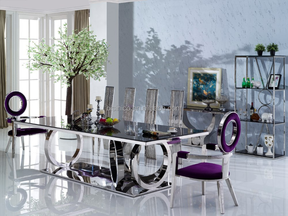 dining table stainless steel dining chair stainless steel dining room