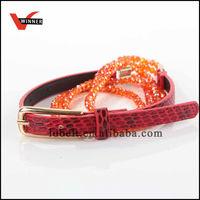 High quality custom ladies beaded belt