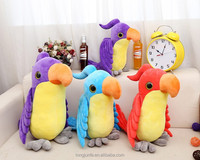 Cute cartoon plush toys big parrot
