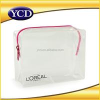 plain white zipper cosmetic women bag