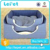 Double-use luxury cozy pet dog bed soft indoor fabric dog house