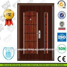 puerta de hierro forjado baratos de caoba sólida puerta de madera