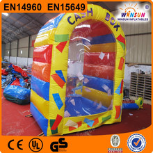 Exciting inflatable cash machine inflatable cash cube