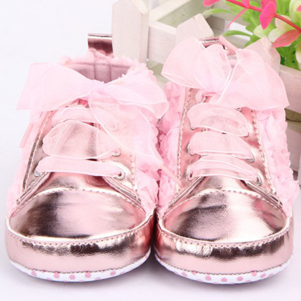 Alamana Lovely Flower Pattern Infant Baby Girls Soft Sole Boots Prewalker Toddler Shoes Pink 11cm