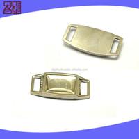 metal paracord bracelet charm for shoe decoration,shoelace charm