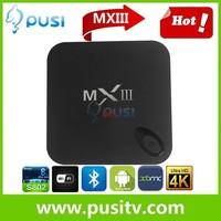 OEM/ODM Amlogic S802 Quad Core mx3 android 4.4 smart tv box MXIII 1G RAM 8G ROM