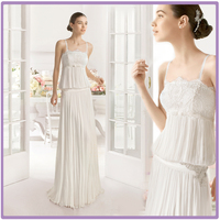 TH7121cx Serious High Middle East Style Wedding Evenig Dress Beaded Lace Floor-Length Ruffle Wedding Dresses 2015