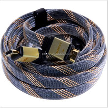 High speed flat hdmi cable with Gold Connector Support 4k*2K 1.4V for 3D,1080P Ethernet 1.4V