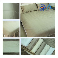 Hot sale cotton or cotton blended jacquard or plain bed sheet , quilt , bedding set for hotel use