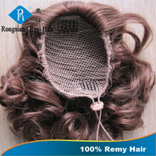 China Supplier Top Grade Hot Style Fashion Design Remy Soft Comfortable Smooth claw clip ponytail human hair extension