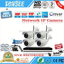 parking sensor system H.264 720P wifi P2P wireless ip camera kit 4 channel home security CCTV camera NVR system