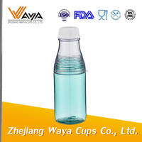 2015 500ml clear plastic drinking water bottle with screw body