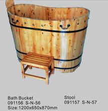 JAZZI Wooden Bathtub, Wooden Bath Bucket, Wooden Hot Spa Bathtub Bucket 091156