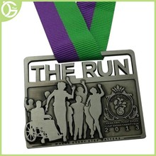 2015 New product running race custom medals no minimum order