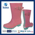 crianças estilo new sapatos de chuva bonito rosa botas de borracha para as meninas