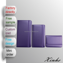 fancy PU leather notebook with elastic strap and pocket for female as a gift