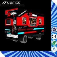 Competitive Quality Theme Park 5D 7D 9D Truck Drive Cabin Mobile Cinema