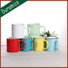 300ml vivid color eco friendly ceramic water mug