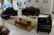 Foshan Popular hot sale luxury 2014 popular leather/fabric sofa DXY-3048#