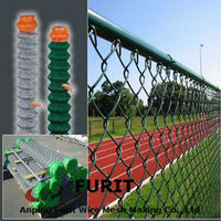PVC coated and galvanized chain link fence/used chain link fence for sale/cheap chain link fence