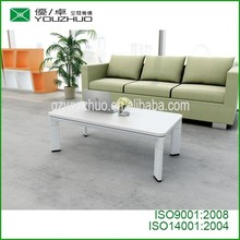 tea table coffee tables white cheap and good quality with aluminum alloy legs