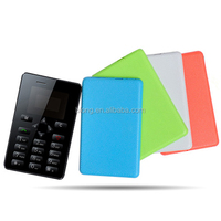 Ultra Thin card Mini Cell Phone Children Pocket Card Mp3 Bluetooth Vibration Mobile Phone
