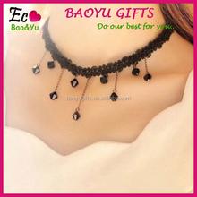 wholesale Cheap Fashion elastic black line tassel tattoo necklace